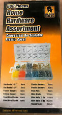 Black Bull 600pc Home Hardware Picture Hanging Kit Screws Kit in Case CTD031