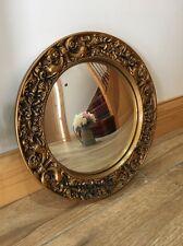 VINTAGE oro ornato incorniciato TONDO SPECCHIO 35cm di diametro