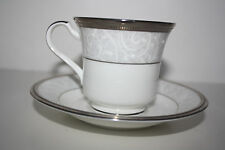 Noritake Lenore Platinum Cup and Saucer