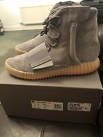 Adidas Yeezy Boost 750 Light Grey Gum Glow Kayne West UK 11 US 11.5