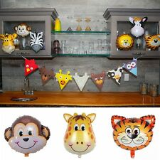 5pcs/Set Animal Head Shape Foil Balloon Birthday Wedding Party Baby Shower Decor