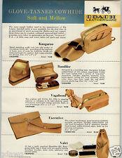 1959 PAPER AD Coach Leatherware Kangaroo Leather Bath Kit Bag Baseball Glove