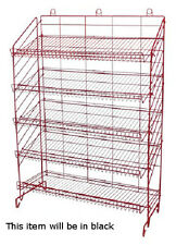 Display Rack in Black 54 H x37 W x16 D Inches with 5 Adjustable Shelves