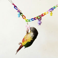 1x Pet Birds Parrot Parakeet Conure Colorful Swing Cage Toy Climbing Rope Bridge