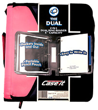 Case It The Dual 2 In1 Dual Ring Binder 3 Capacity Zipper D 121 A Pink