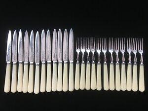 Vintage 24-piece silver plated dessert cutlery set, Frederick Asman, Sheffield