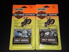 MATCHBOX HARLEY DAVIDSON ELECTRAGLIDE & CHOPPER MOTOR CYCLES  1993