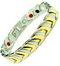 TITANIUM Magnetic Fir Energy Germanium BALANCE Power Bracelet Health 4 in 1 Bi