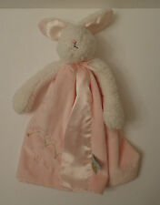 Bunnies by the Bay Ivory Bunny Rabbit Pink Trim Hippity Hop Off We Go Lovey