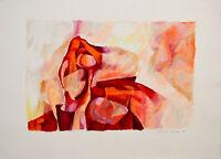 Gabriele Grosse: Abstrakte Komposition. [19]66. Signierte Original-Zeichnung.