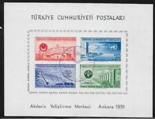 TURKEY 1952 UN Economic Conf min sheet FU, cat.£110