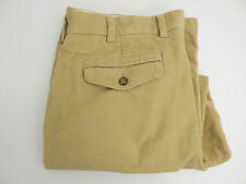 LL Bean Men's Classic Fit Corduroy Pants - Tan, Flat Front, Size 38- Q930a