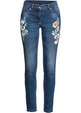 Stretchjeans m Druck Gr. 44 Blue Stone Used Damen Stretch-Jeans Skinny-Hose Neu*