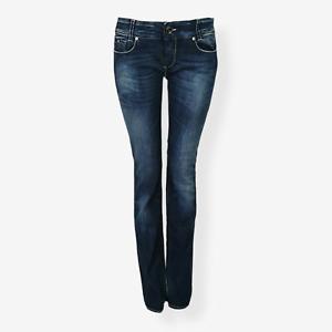 Gas Jeans Women's Dark Blue Bootcut Low Rise Jeans Size UK 10 Slim Fit
