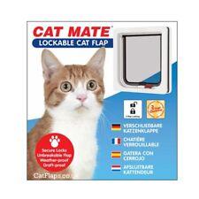 Cat Mate Small Lockable Cat Kitten Flap White