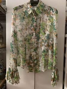 DOLCE /& GABBANA Shirt White Pineapple Silk Top Blouse 44 US17.5// 3XL RRP $940