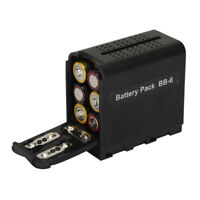 BB-6 AA Battery Case Pack Power as NP-F970 for LED Video Light Panel Sony Camera