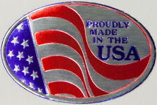 50 1 X 1 12 Oval Proudly Made In The Usa Foil Stamped Labels Seals Stickers