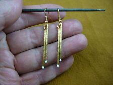 (M316-N) DRUMSTICK sticks pair dangle Earrings drums gold plt drum drumsticks