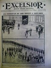 WW1 SAINT-OMER FUNERAILLES LORD ROBERTS FURNES JOURNAL EXCELSIOR 23 NOV.  1914