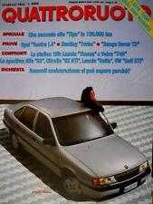 Quattroruote 400 1989 Opel Vectra. L'Alfa 2000 degli anni 90. Bentley Turbo Q90]