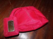 ELIZABETH ARDEN HANDBAG OR COSMETIC BAG, Small Clutch, Red-white dots