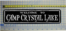 """WELCOME TO CAMP CRYSTAL LAKE (Friday the 13th)  Horror Sign 6""""x24"""""""