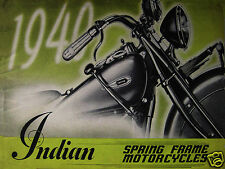 Vintage Style Retro Metal Plaque Indian 1940 Spring Frame Motorcycles Sign AD