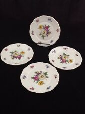 Mitterteich Bavarian China - Meissen Floral - Set of 4 Bread Plates