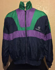 Vintage Sergio Tacchini Size 42 Full Zip Retro Windbreaker Track Top Jacket