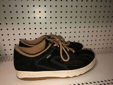VINTAGE VANS Mens Suede Athletic Skate Shoes Size 11 M Black Beige Korea