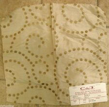Cowtan Tout Churchill Cream Spiral Embroidered Dots Silk Designer Fabric Sample