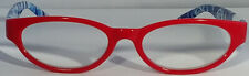 New! Foster Grant Simply Specs Waves Red 1.25 Reading Glasses W/Soft Case.