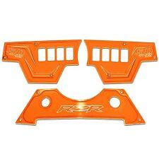 8 Switch 3 Piece Dash Panel Aluminum Orange Powdercoated fits Polaris RZR XP1000