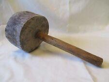 Antique Vintage Primitive Wooden Mallet Hammer 1800's Carpenters Tool Rare Find