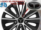 4 adesivi resinati 3D logo MB MERCEDES Ø 60 mm coprimozzo x cerchi auto in lega