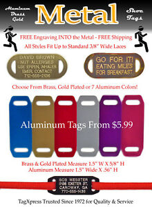 SHOE ID TAGS - Runners ID Tags Vital Medical & Contact Info  Adult Kids Athletes