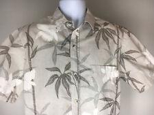 Blue Paradise Men's Short Sleeve 100% Cotton Short Sleeve Tan Hawaiian Shirt