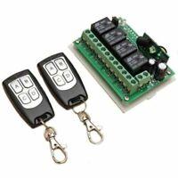 DC 12V 4CH 200M Wireless Remote Control Relay Switch 2 Transceiver + Receiver