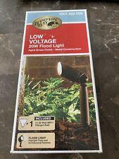 Hampton Bay Low-Voltage 20-Watt Aged Brass Outdoor Halogen Landscape Flood Light