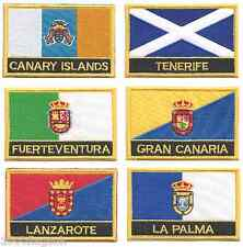 More details for spain canary islands set of 6 flag embroidered rectangular patches