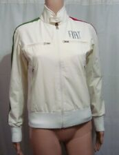 Fiat White Full Zip Racing Jacket with Red Green Stripe - Size Small