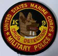 USMC United States Marine Corps Military Police K-9 Drug Detection Cloth Patch