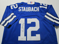 ROGER STAUBACH / NFL HALL OF FAME / AUTOGRAPHED COWBOYS THROWBACK JERSEY / COA