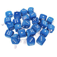 Car Mirror Mini Hanging Fuzzy Dice with White Dots 1.57in. Blue Bag Stuffers