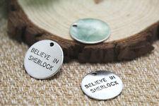 20pcs- believe in sherlock Charms Silver disc believe in sherlock penant 20mm