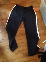 NWT Style & Co. black white pink stretch track pants size L