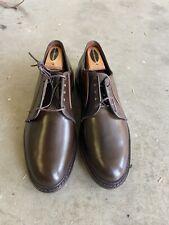 Allen Edmonds Leeds Brown Shell Cordovan Plain Toe Bluchers