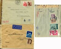 GERMANY Portugal SWISS Nazi Geöffnet Examined Covers Postage Stamps Collection