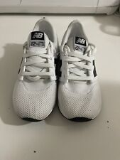 Preowned New Balance 247 White Sneaker Shoes Two Four Seven KL247WBP Size 2 Kids